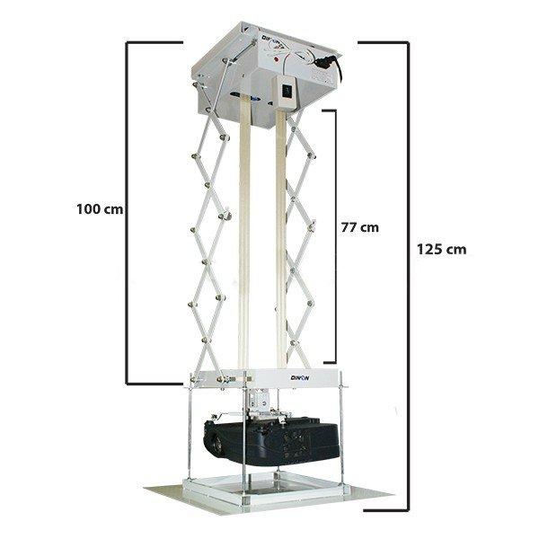 Soporte para Proyector a Techo Electrico Control Remoto 2M 15 Kg