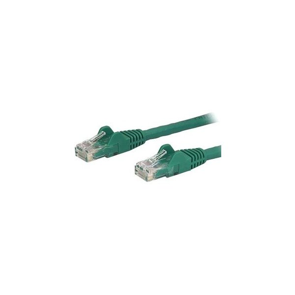 Cable de Red de 15cm Verde Cat6 UTP Ethernet Gigabit RJ45 sin Enganches