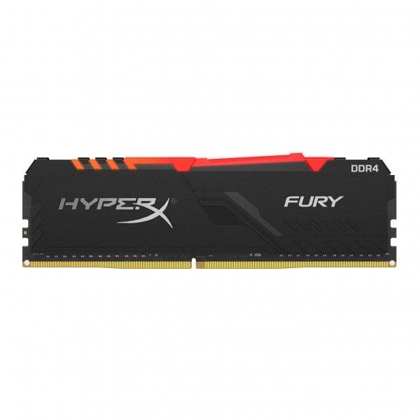 Memoria Ram HyperX Fury RGB DDR4 16GB 3733MHz CL19 Dimm 1.35 V