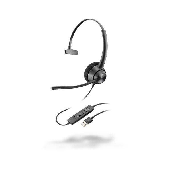 Audífono Plantronics EncorePro 310 Alámbrico USB Monoaural Negro