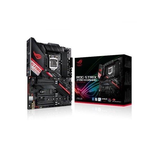Placa Madre ASUS ATX ROG STRIX Z490-H GAMING S-1200 Intel Z490 HDMI 128GB DDR4 para Intel