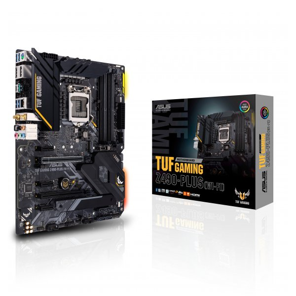 Placa Madre ASUS TUF Gaming Z490-Plus WI-FI Socket LGA1200 Dual M.2 12+2 Power Stages ATX