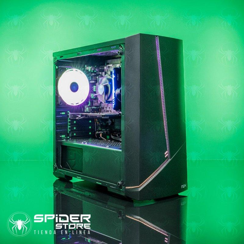 Spider Build Plus Intel i5 9400f   GT 710   DESDE 8 GB RAM   Asus Prime H310M   DESDE 240 GB SSD   NOX ALPHA