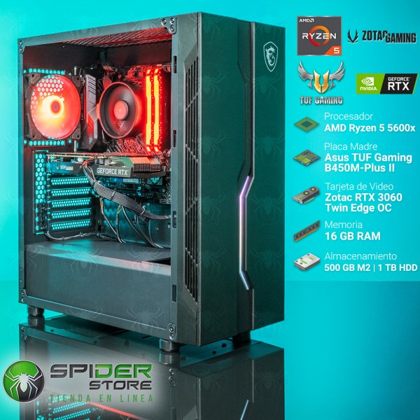 Spider Build Excelsior AMD Ryzen 5 5600x | Zotac RTX 3060...