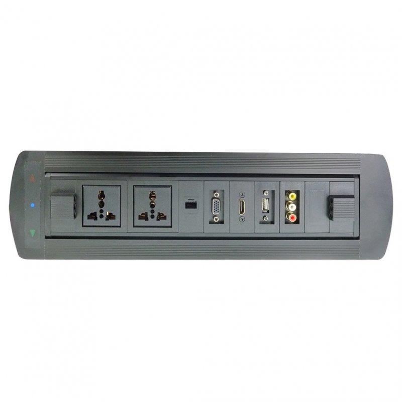 Caja de Conexión A/V Electrica Dorada