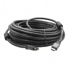 Cable HDMI 20M. M/M, V1,4,  Conector Metalico Negro, Baño Oro, 26AWG