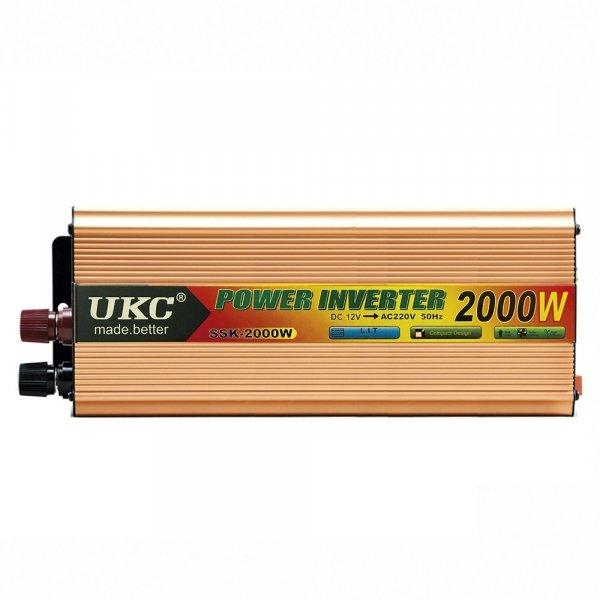 Inversor De Voltaje 2000W DC12V A 220VAC