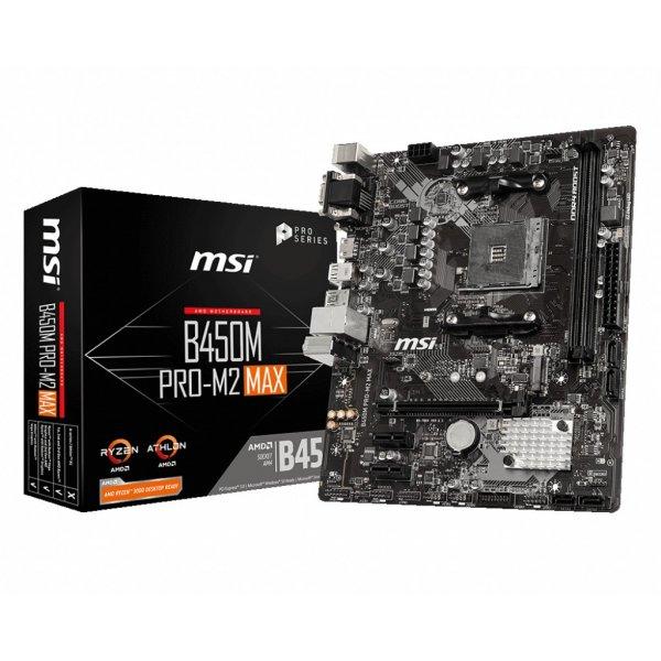 Placa Madre MSI B450 Pro-M2 Max AM4 Micro ATX