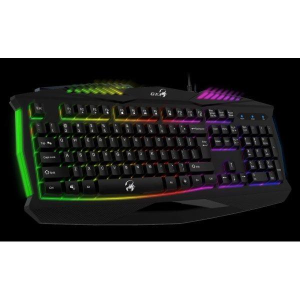 Teclado Genius Scorpion K220 RGB Programable, Alámbrico, USB 2.0